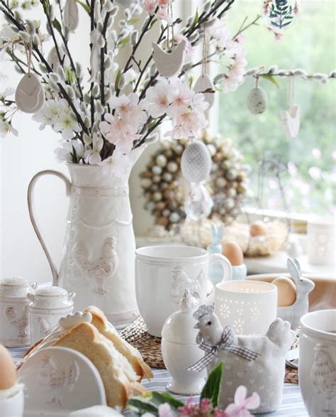 Home Entrance Decor Ideas Easter Breakfast Table Decorations By Gisela Graham