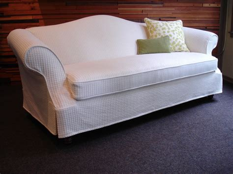 Custom Slipcover Organic Cotton Bamboo Traditional Custom Slipcovers Sofa