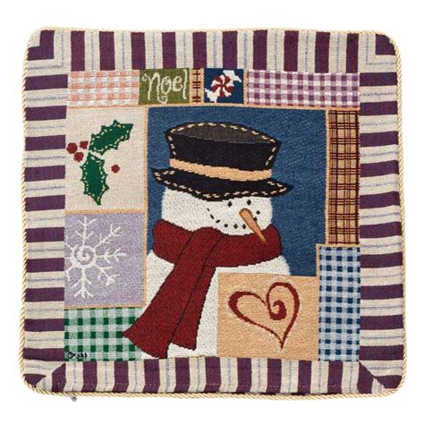 needlepoint snowman pillow cover pillow cover