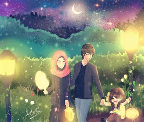 koleksi gambar kartun ana muslim  muslimah infokini