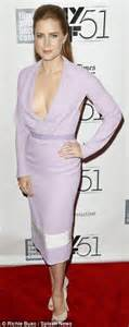 amy adams steals the spotlight in plunging lilac dress at