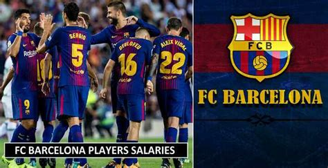 barcelona players salary fc barcelona players salaries 2018 weekly wages revealed