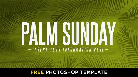 free palm sunday hot paint photoshop template church