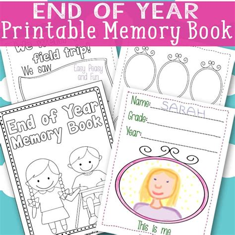 printable picture book end of year memory book free printable easy peasy and