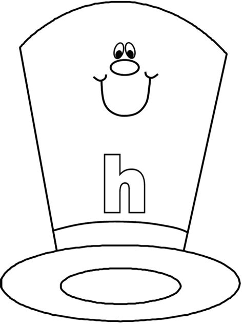 hat coloring page az coloring pages