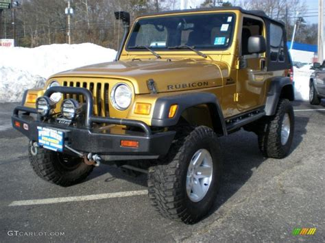 gold jeep 2003 inca gold metallic jeep wrangler rubicon 4x4