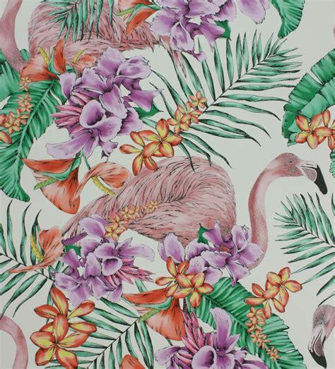 wallpaper direct flamingo flamingo club by matthew williamson ivory fuchsia
