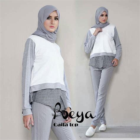 Tunik Listy Midi Dress Rabiya Edisi Reya April Jual Busana Muslim