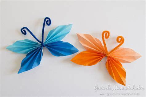 imagenes mariposas de papel divertidas mariposas de papel plegado gu 237 a de manualidades
