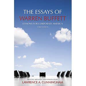 Pdf Essays Warren Buffett Lessons Corporate by Essays On Corporate America