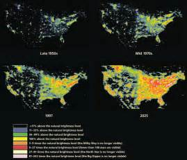 us map of lights at light pollution and nasa combating the side of