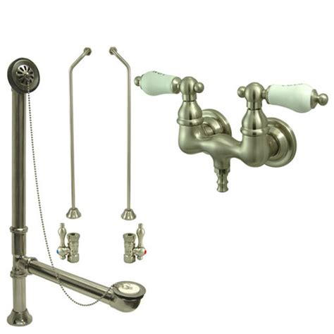 Clawfoot Tub Filler Faucet by Satin Nickel Wall Mount Clawfoot Bath Tub Filler Faucet Package Cc33t8 Faucetlist