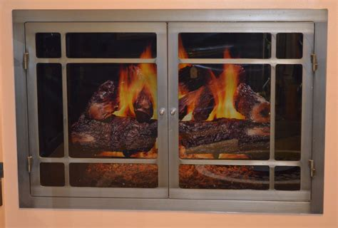 Airtight Fireplace Doors by 3724 Hearthworks Fireplace Door In Iron