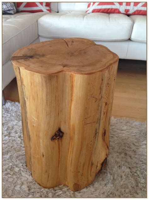 Wood Stump End Table