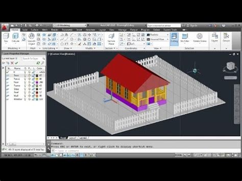 youtube tutorial autocad 3d autocad 3d modeling cottage tutorial freestyle youtube
