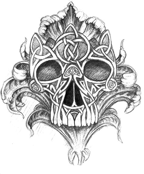 celtic skull tattoo designs celtic skull pics