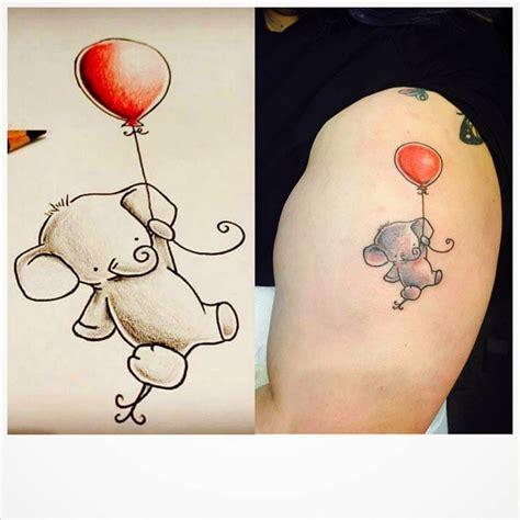 elephant balloon tattoo 40 elephant tattoo designs and ideas