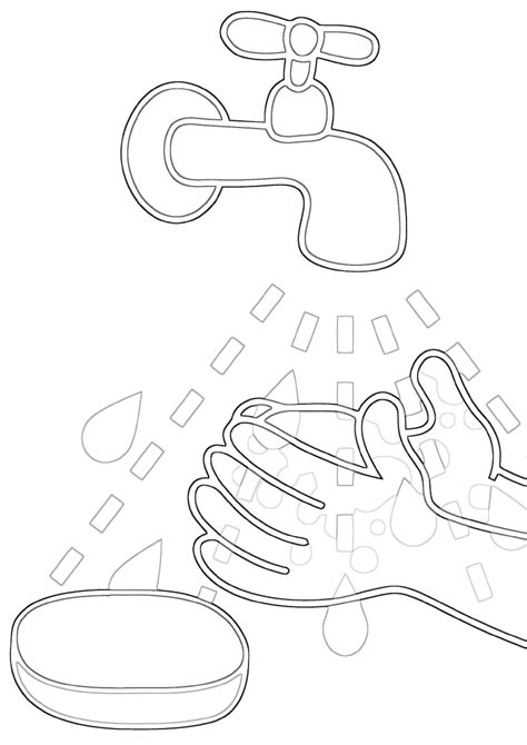 Hygiene coloring pages | Coloring pages to download and print