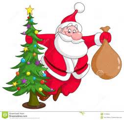 Santa with christmas tree stock images image 27759504