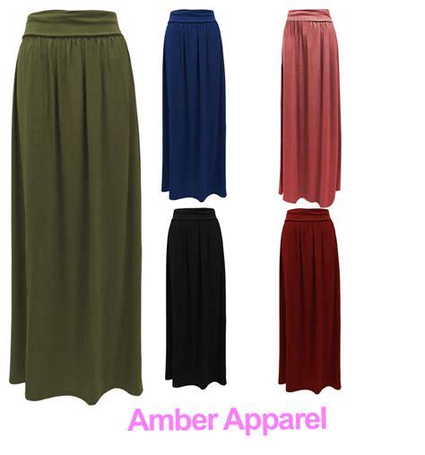 new womens jersey maxi skirt sizes 8 14 ebay