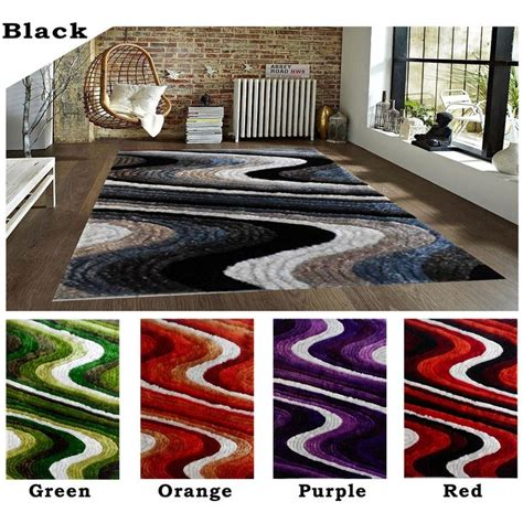 orange and black rugs 8x10 modern contemporary shag shaggy black green orange purple rug carpet area rug