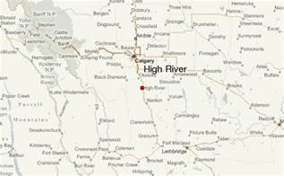 map of high river alberta canada high river location guide