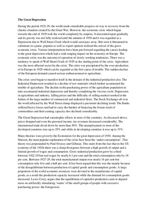 great depression thesis statement custom essay per page a quality no plagiarism