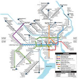 Subway Map Philadelphia by Septa Clickable Regional Rail Amp Rail Transit Map