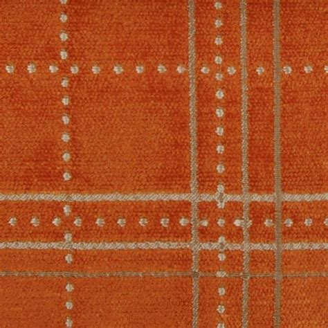 Orange Upholstery Fabric Geometric Fabric Upholstery