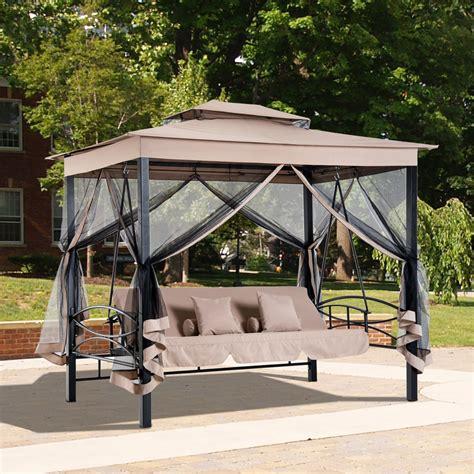 gazebo swing 3 in 1 patio swing gazebo canopy daybed hammock canopy