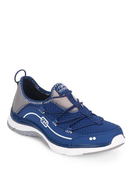 ryka slip on sneakers ryka feather pace slip on sneakers in blue lyst