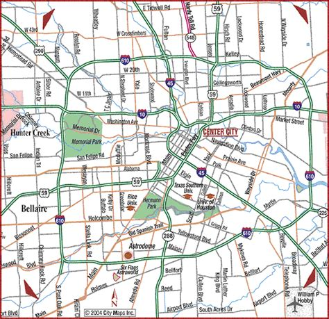houston texas road map map houston roads
