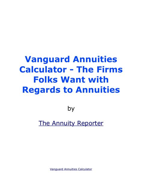 10 year certain and annuity calculator annuityf vanguard annuity quotes