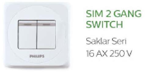 Saklar Sim2 Gangswitch Philips jual philips simply 2 1 way saklar bason