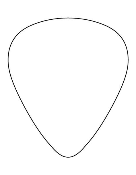 printable guitar pick template