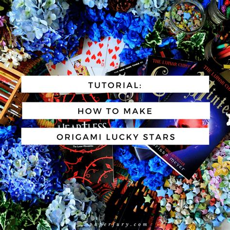 How To Make Paper Lucky - tutorial how to make origami lucky for bookstagram