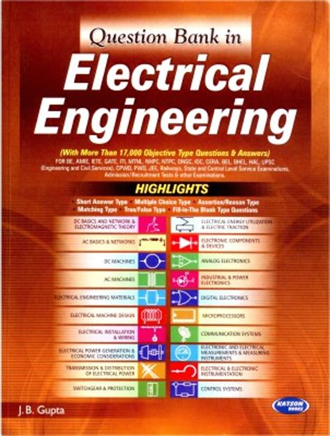buy second engineering books india buy question bank in electrical engineering 5 edition at