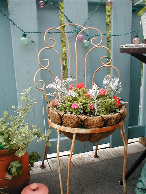 planters chair how to repurpose patio chairs into planters