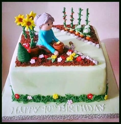 Flower Garden Cake Cake Decorating Sweet Mischief Ja Cake Ideas Gardening Inspired Cakes