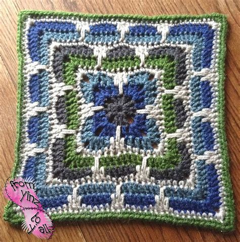 knit and crochet daily free pattern this larksfoot inspired 12 quot square