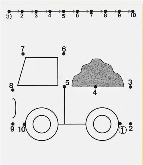 printable dot to dot truck crafts actvities and worksheets for preschool toddler and