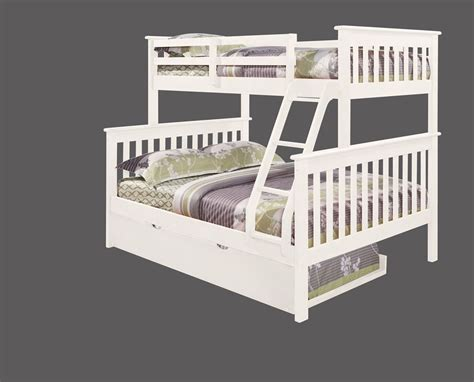 twin bunk beds white twin over full kid s bunk bed w trundle and or tent