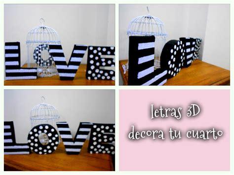 ideas para decorar mi cuarto reciclando decora tu cuarto con letras 3d de cart 243 n reciclando