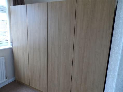 built in armoire built in wardrobes in natural lancaster oak diy