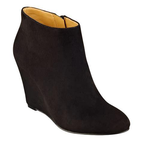 bootie shoes nine west riguma bootie in black black suede lyst
