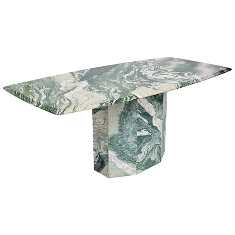 Marble Base Table L by Verde Luana Marble Top And Base Dining Table At 1stdibs