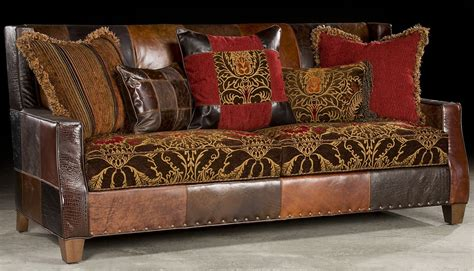 print fabric sofas bold print fabric and leather sofa