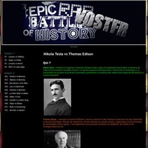 Epic Rap Battles Of History Edison Vs Tesla Edison Et Nikolas Tesla Pearltrees