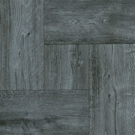 Peel And Stick Vinyl Plank Flooring Reviews by Trafficmaster Grey Wood Parquet 12 In X 12 In