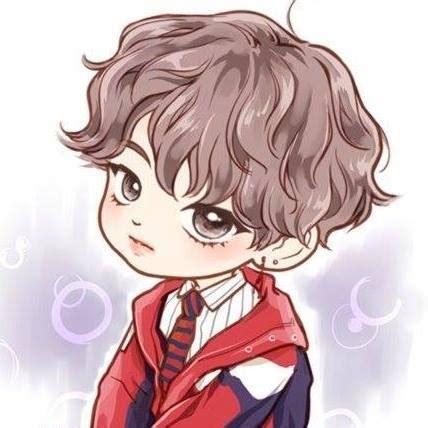 V Anime Fanart by Bts Fanart Chibi Anime Inicio